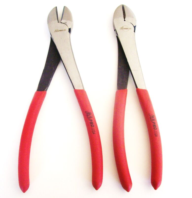 """2 ATE PRO 10"""" LONG REACH DIAGONAL CUTTERS WIRE CUTTING PLIERS DYKES NOSE 30123"""