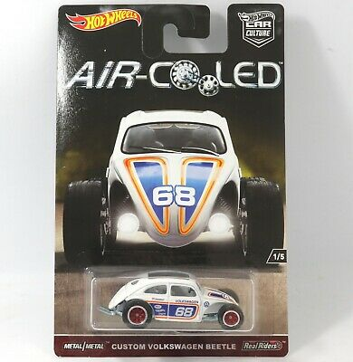 Custom VW Beetle Hot Wheels Air Cooled Car Culture Real Riders 1:64 Scale Toy