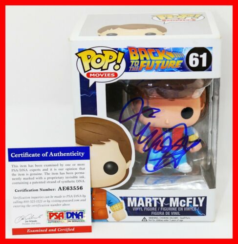 Michael J Fox Signed Autographed Marty McFly Back To The Future Funko POP PSA
