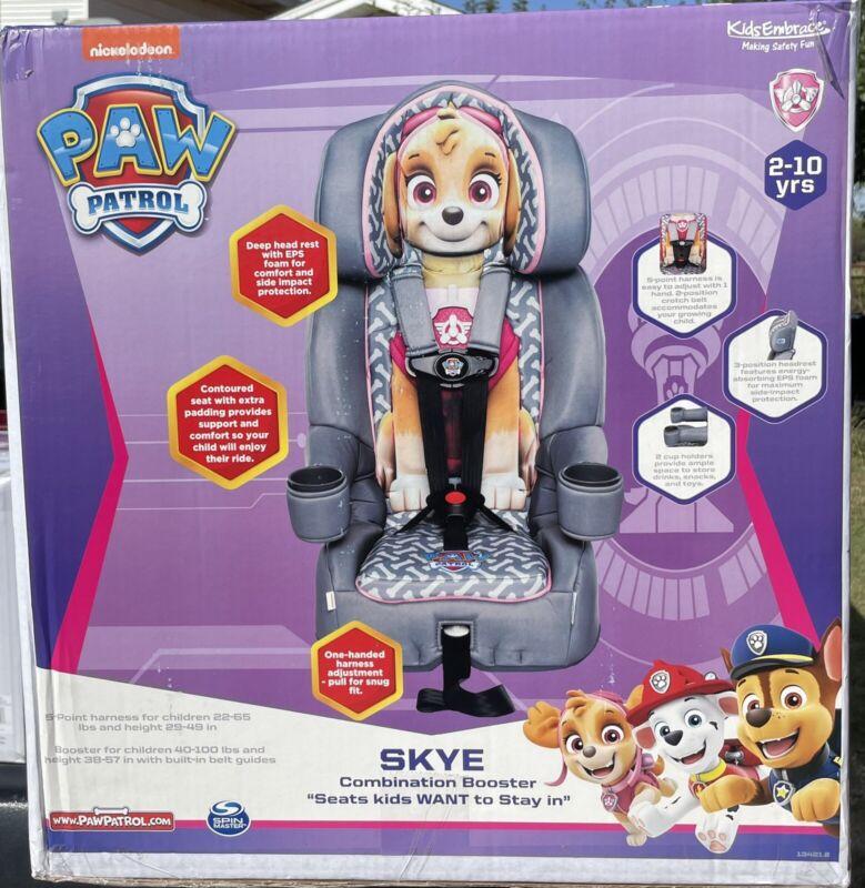 Kids Embrace 2-in-1 harness booster car seat Paw Patrol Skye Brand New