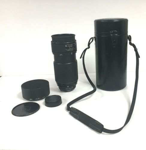 Nikon ED Nikkor AF 80-200 mm 1:2.8D Zoom Lens Japan Black Tokina AT-X Carry Case