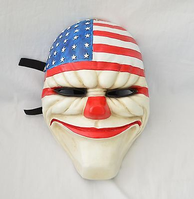 Resin Replica Payday 2 Dallas Mask With Stripe Halloween PROP Cosplay - Halloween 2 Replica Mask