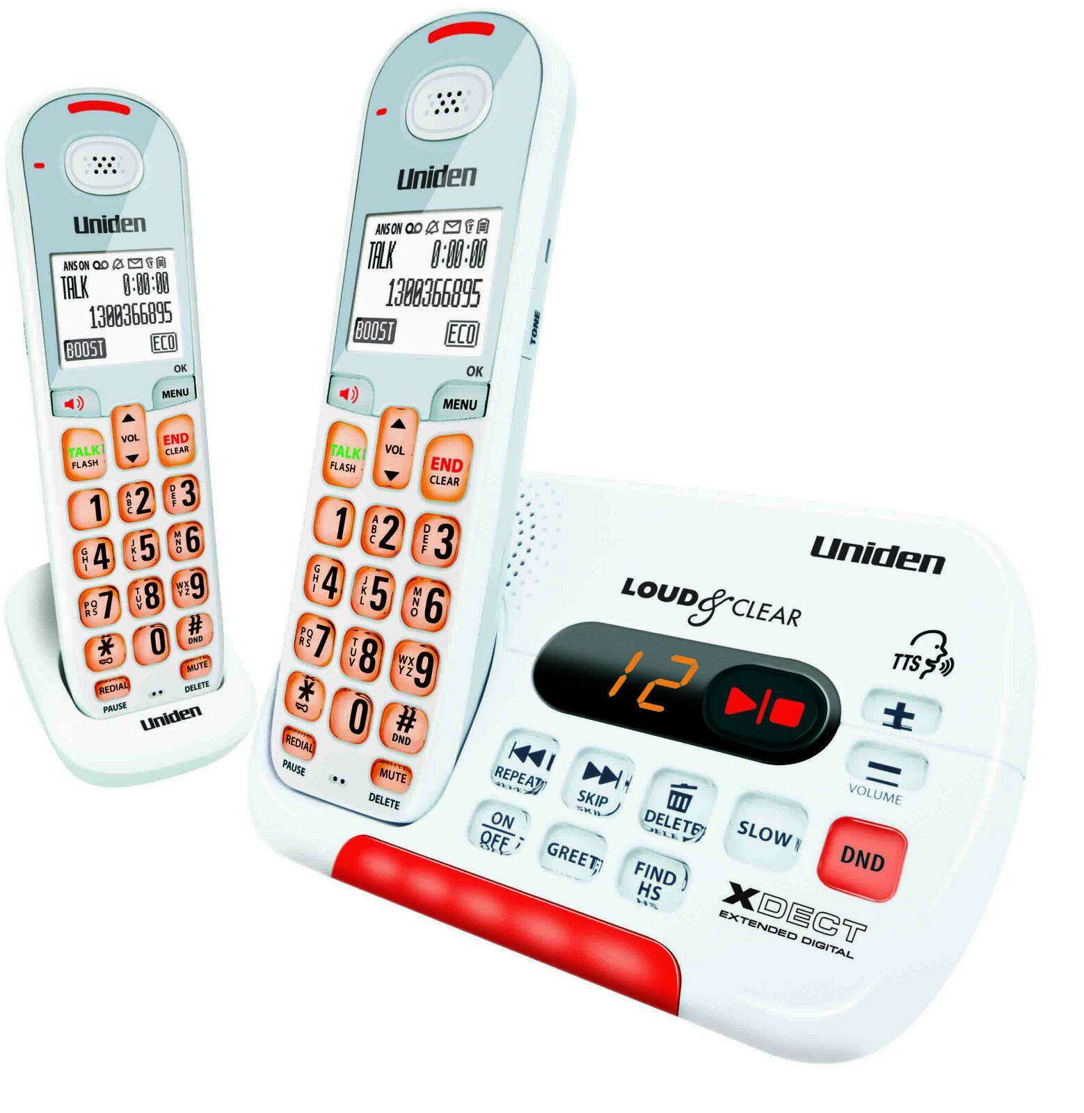 UNIDEN SSE-35+1 DIGITAL CORDLESS PHONE IDEAL 4 HEARING