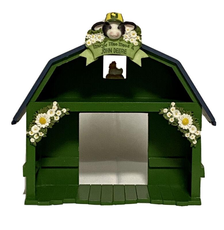 Enesco Mary's Moo Moos John Deere barn