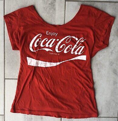 Coca Cola Womens T-Shirt Size L Color Red Short Sleeve Vintage