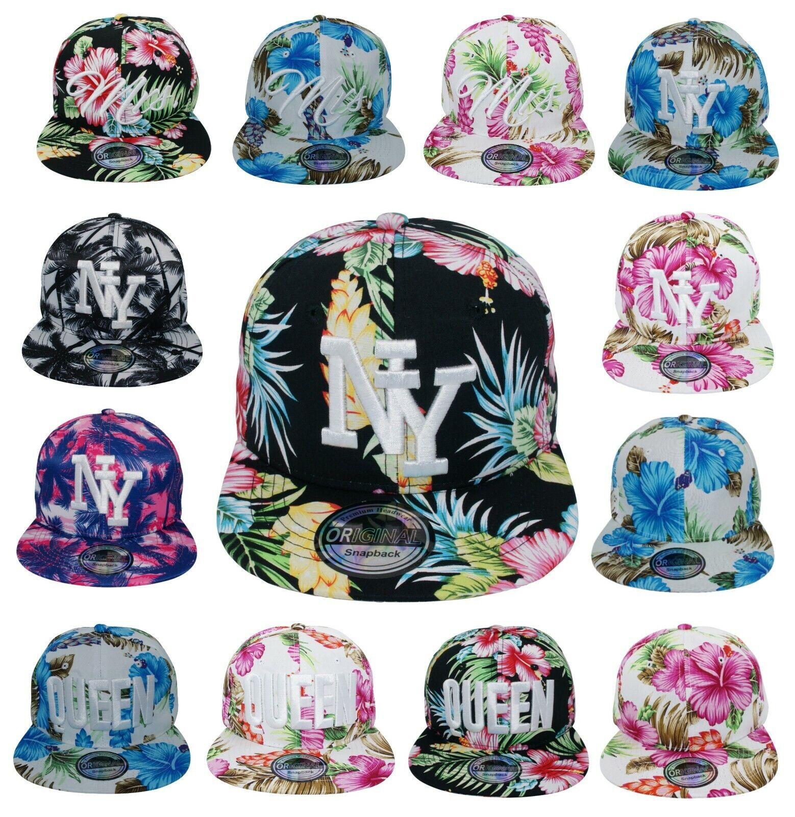 Snapback Cappy Kappe Cap Schirmmütze Mütze Sommer Damen Herren Hawaii flach NEU