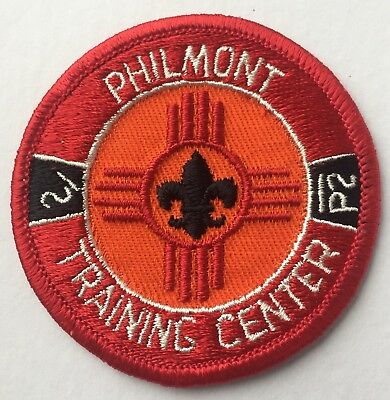 "Philmont Training Center Approx 3"" Patch, Clear Plastic Back"
