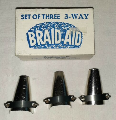 Braid-Aid Set of 3 3-Way Braid-Aids with Box.