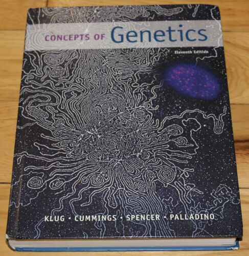 Hardcover Concepts Of Genetics Eleventh Edition By William S. Klug