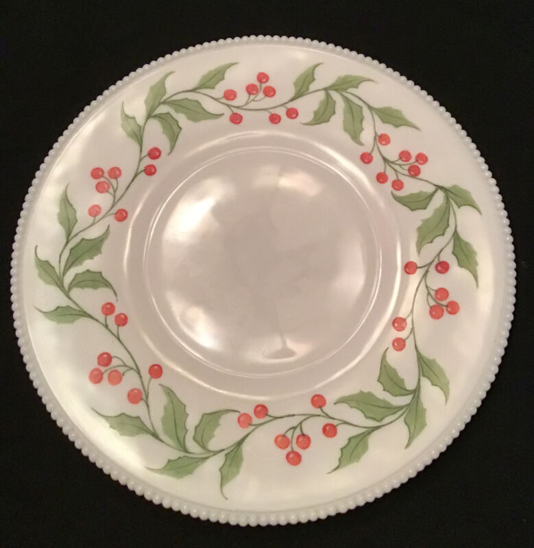 "Westmoreland Milk Glass Zodiac Astrology Holly 14.5""  Serving Plate Platter"