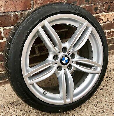 "Genuine BMW 5 6 Series 19"" Front Alloy Wheel M Sport 351M F10 F11 F12 Runflat for sale  Warrington"
