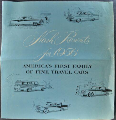 1956 Nash Large Brochure Folder Rambler Ambassador Statesman Nice Original 56
