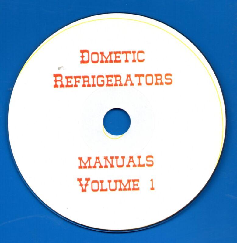 Dometic Refrigerator Repair Manuals on CD- pdf