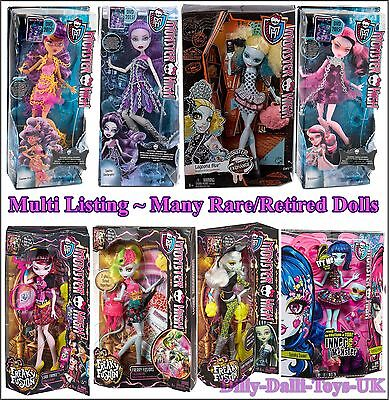 Monster High Dolls Multi Listing Over 25 Different Monsters Inc Rare Retired - Monster High List