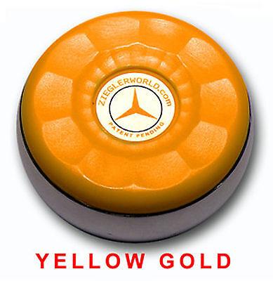 Zieglerworld Table Shuffleboard Medium Size Weights Pucks   Yellow Gold