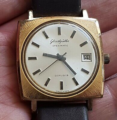 VINTAGE 1970'S GUB GLASHUTTE SPEZIMATIC WATCH 26 JEWELS AUTOMATIC MADE IN GDR