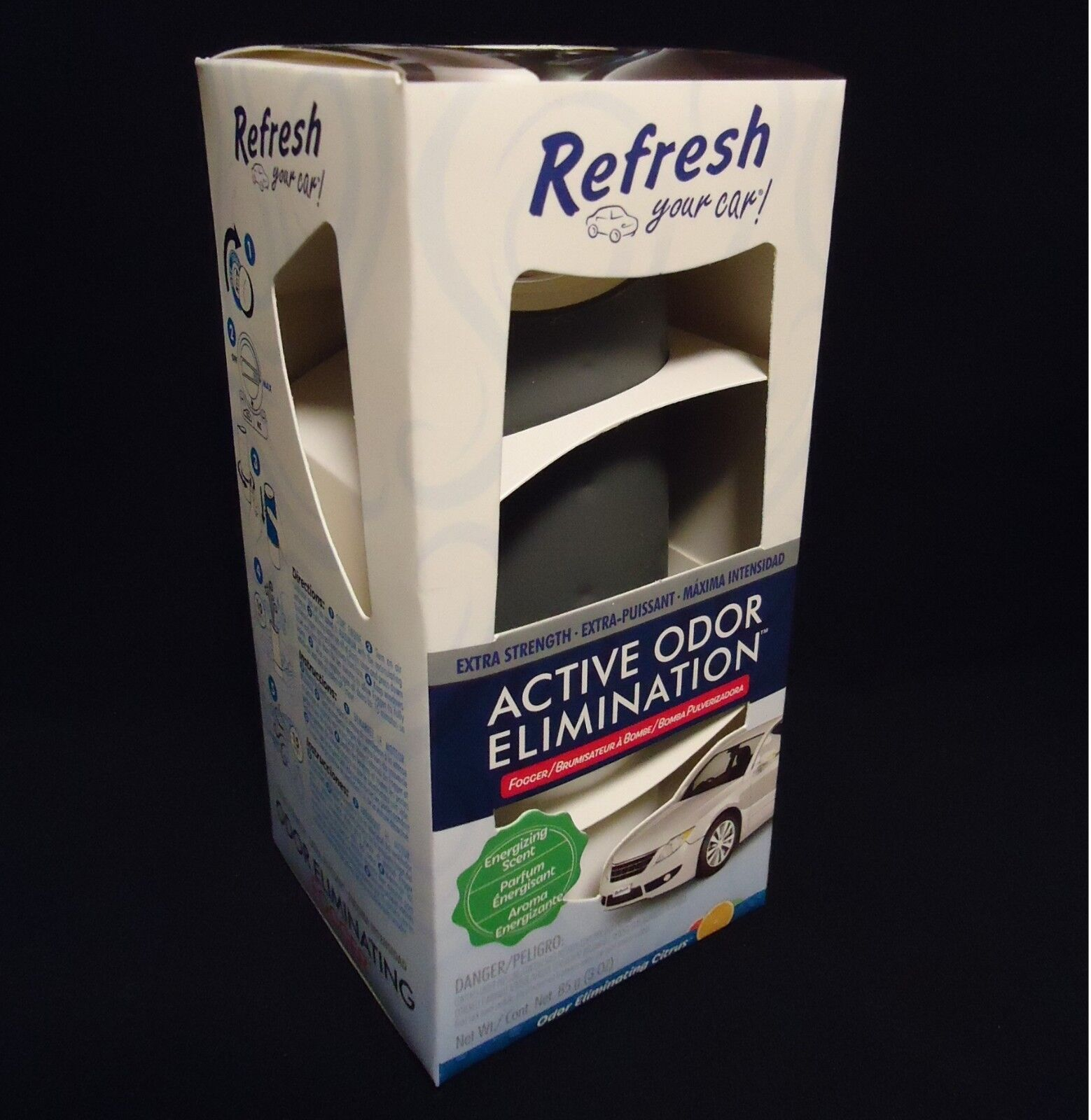 Refresh Your Car Freshener Odor Eliminating Fogger Citrus Ex