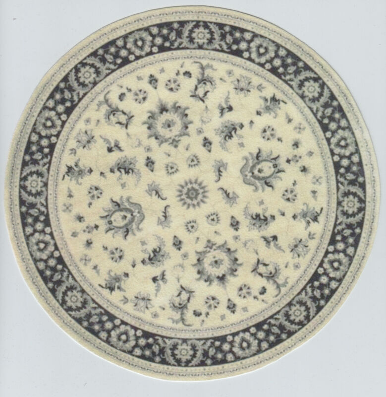 "1:12 or 1"" Scale Dollhouse Miniature Round Area Rug approximately 8"" - 0001019"
