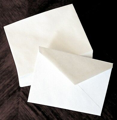 100 Invitation Envelopes, White, A7 size 5 1/4 x 7 1/4, 70# stock Invitation Envelope Size