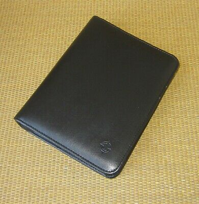 Compact Franklin Covey  Black Faux Leather 1.25 Rings Zip Plannerbinder
