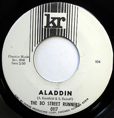 BO STREET RUNNERS 45 Aladdin NEAR MINT Mod Beat ONE SIDED PROMO Garage e6903 (Bo Street Runners)