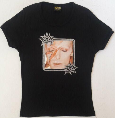 DAVID BOWIE Junior Size Large Black T-Shirt