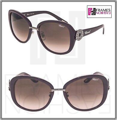 036f5a01c7 CHOPARD THE PALME VERDE Burgundy Purple SCH186S Oversized Sunglasses 186  Women