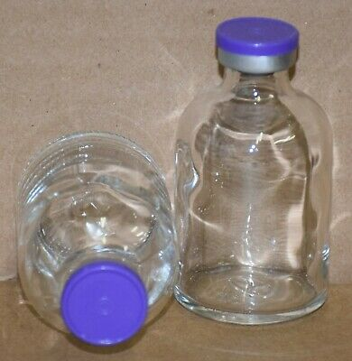 Usp 50 Ml Clear Sterile Vial With Purple Plain Flip Off Seal Any Qty