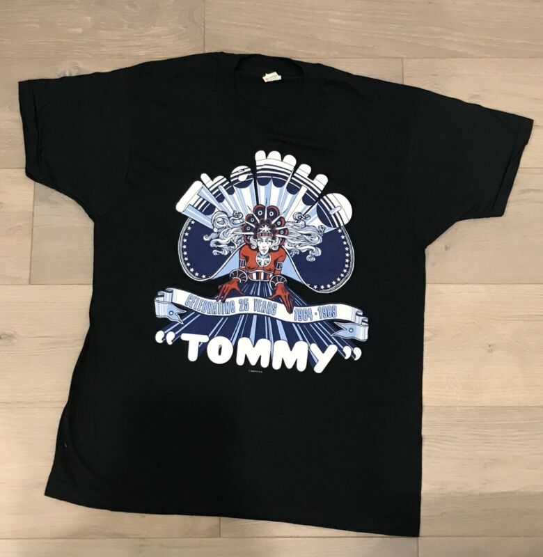 THE WHO - 1989 TOMMY 25 YEARS ANNIVERSARY TOUR SHIRT XL (NEW)