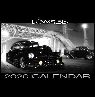 2020 Calendar Lowr3D full color 3D Artwork lowrider/custom 11x17 12 -