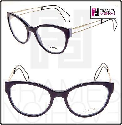 MIU MIU COLLECTION MU03PV Lilac Violet Cat Eye Eyeglasses RX Frame 52mm 03P