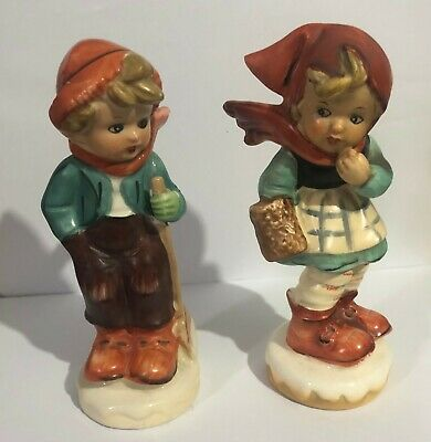 2 x Ceramic Figurines of  a boy and girl