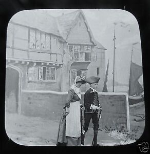 Glass-Magic-lantern-slide-SALLY-IN-OUR-ALLEY-NO-7-C1890-VICTORIAN-TALE