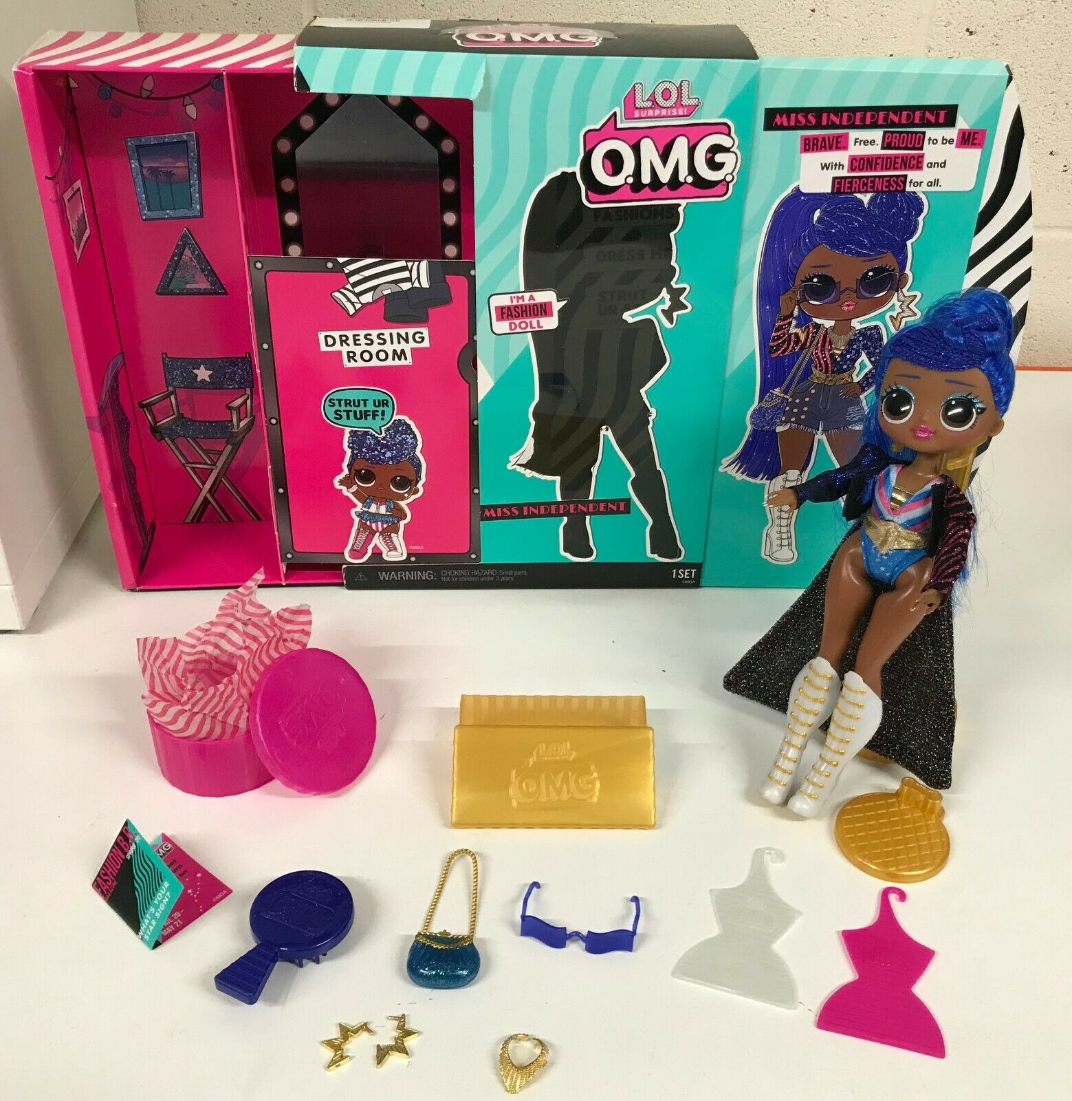 LOL Surprise Fashion Doll OMG Miss Independent Accessories Articulated Posable