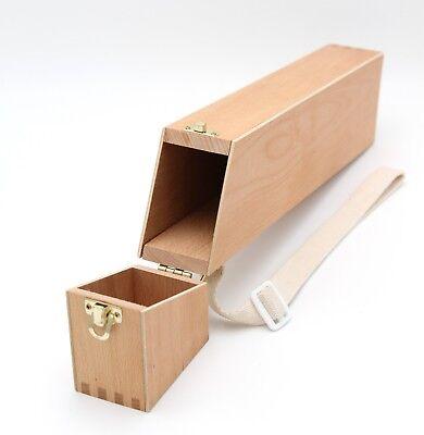 Pinselbox 1, Pinselkasten, Holz, Utensilienkoffer für Künstlerpinsel, Organizer