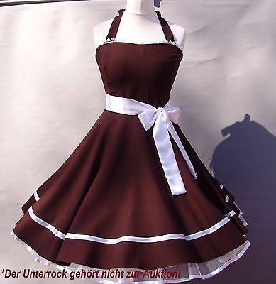 ~Elegantes Kleid ~zum Petticoat 50er Jahre Rockabilly Abiball Tanz Party braun