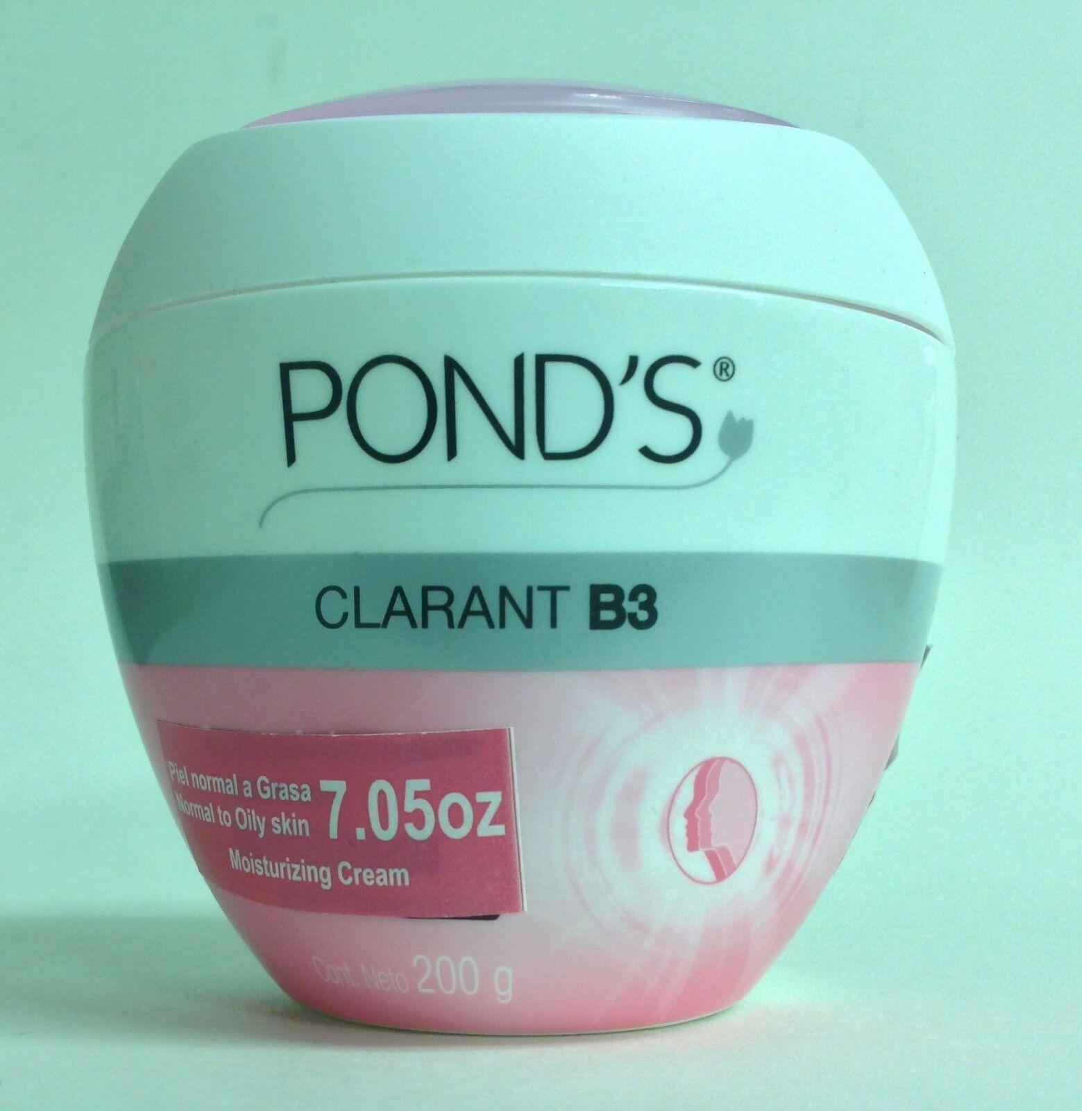 3 POND'S PONDS CLARANT B3 CREAMS NORMAL TO OILY SKIN 7.05oz/PIEL NORMAL A GRASA 1