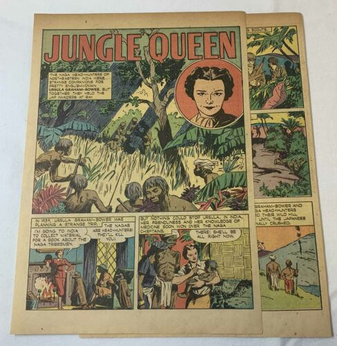 1945 three page cartoon story ~ URSULA GRAHAM-BOWER Jungle Queen, WWII