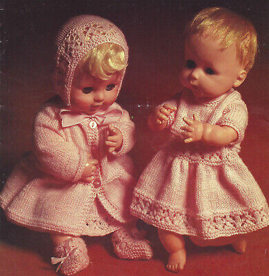 DOLLS PREMATURE BABY CLOTHES 14 TO 20 INCH TINY TEARS  KNITTING PATTERN (1764)