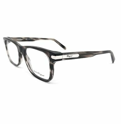 Salvatore Ferragamo Eyeglasses SF2829 003 Striped Grey Rectangle Men 53x18x140