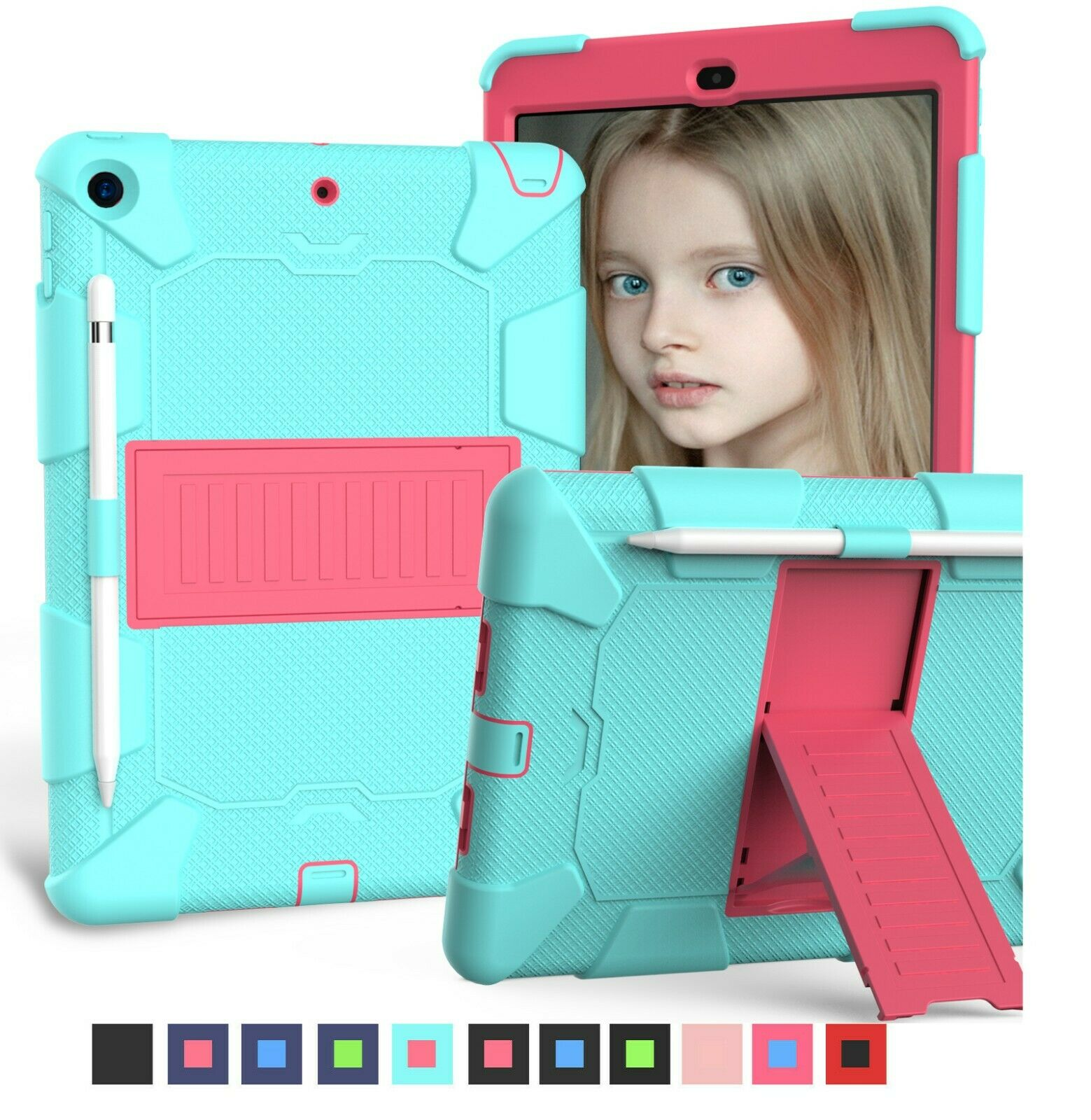 "For New iPad 10.2"" inch 2019 7th Generation  Shockproof Case Stand Hard Cover Cases, Covers, Keyboard Folios"