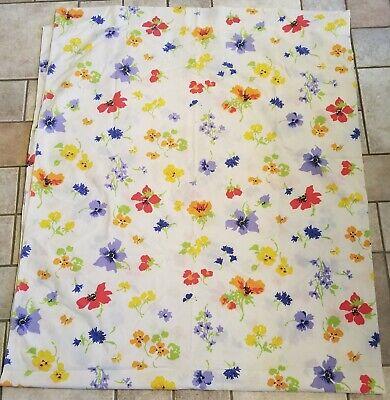 Bill Blass Springmaid Flat Sheet Full/Double Poppy Floral Cotton Blend VTG 1970s