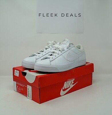 (Nike Match Supreme Premium LTR [White/White] Classic Tennis Shoes)