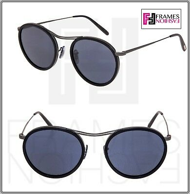OLIVER PEOPLES OV1219S MP-3 30th Matte Black Pewter Blue Round Sunglasses 1219