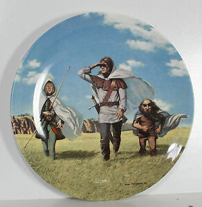 Lord-of-the-Rings-Collectors-plate-Wedgewood-Signed-Ted-Nasmith-Tolkien-Danbury