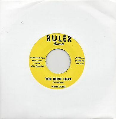 WILLIE COBBS  YOU DON'T LOVE / SLOW DOWN BABY    RULER  Re-Issue/Re-Pro  R&B/MOD