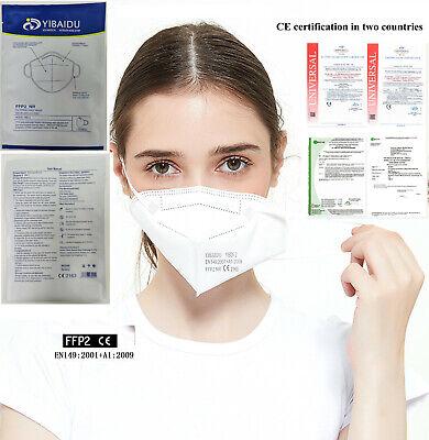 50 x FFP2 CE 2163 Schutz OP Maske Mundschutz KN95 EN 149:2001+A1:2009 !! 5 LAGIG