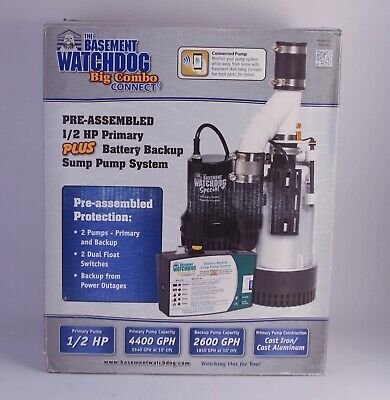 Basement Watchdog Bw4000 12 Hp Combination Primary And Backup Sump Pump System