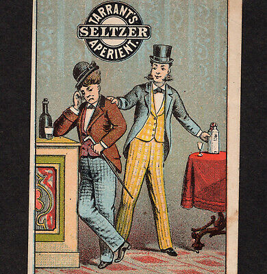 Saloon 1800's Bar Party Hangover Tarrants Seltzer Aperient Victorian Trade Card