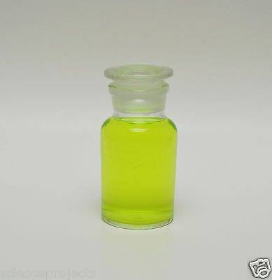 Reagent Bottle Jar 125ml 125 Ml Wide Mouth Clear W Glass Stopper Apothecary